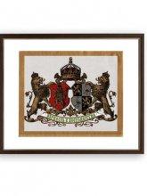 """Български царски герб - """"Вярностъ и постоянство"""""""